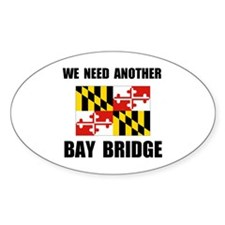 ANOTHER BRIDGE Oval Decal