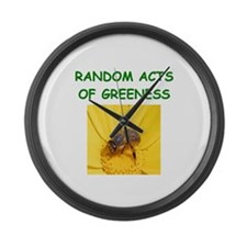gardening joke Large Wall Clock