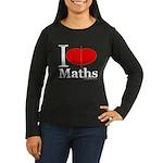 I Love Maths Women's Long Sleeve Dark T-Shirt