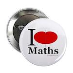 """I Love Maths 2.25"""" Button (10 pack)"""