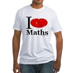 I Love Maths Fitted T-Shirt