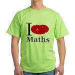 I Love Maths Green T-Shirt
