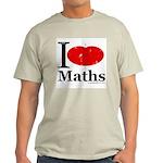I Love Maths Light T-Shirt