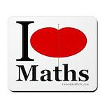 I Love Maths Mousepad