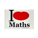I Love Maths Rectangle Magnet (10 pack)