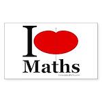 I Love Maths Rectangle Sticker 10 pk)