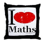 I Love Maths Throw Pillow