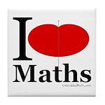 I Love Maths Tile Coaster