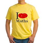 I Love Maths Yellow T-Shirt