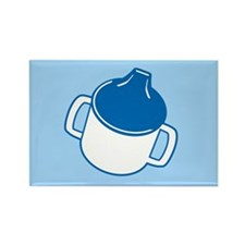 Cute Blue Sip Cup Rectangle Magnet