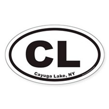 Cayuga Lake CL Euro Oval Decal