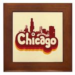 Retro Chicago Framed Tile