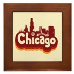Retro Chicago Framed Tile