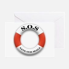 S.O.S. Save Our Seals Greeting Card