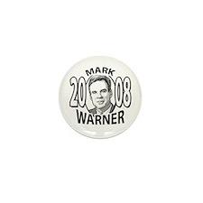 Sample Mark Warner 2008 Mini Button