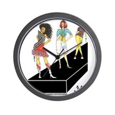 unleashed, fashion illustrate Wall Clock