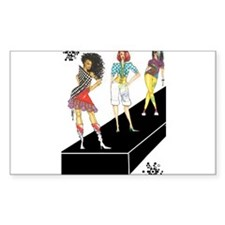 unleashed, fashion illustrate Rectangle Decal
