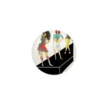unleashed, fashion illustrate Mini Button