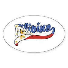 Filipino Oval Decal