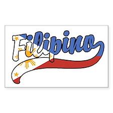 Filipino Rectangle Decal