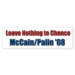 Leave Nothing to Chance Bumper Sticker (10 pk)