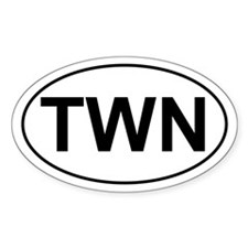 TWN Twin Oval Bumper Stickers