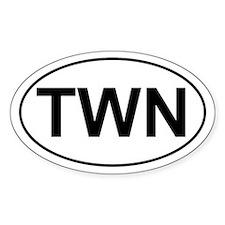 TWN Twin Oval Decal