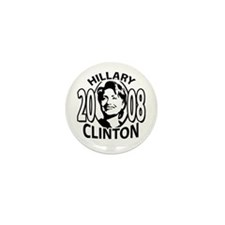 Sample hillary 2008 black Mini Button