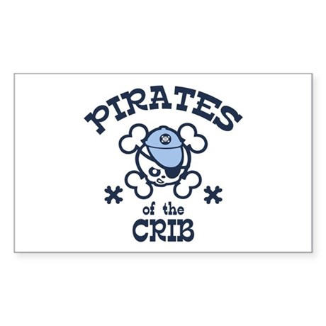 Pirates of the Crib Rectangle Sticker