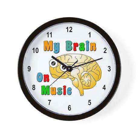 Music Brain Wall Clock