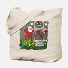 Santa's Helper Yorkie Tote Bag