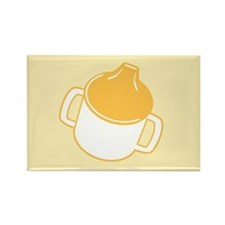 Cute Yellow Sip Cup Rectangle Magnet