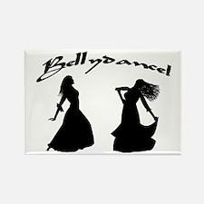 Bellydance Duet Rectangle Magnet