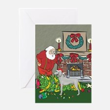 Santa's Helper Weimaraner Greeting Card