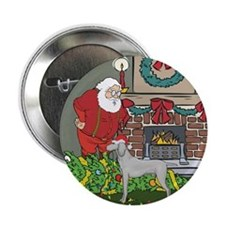 "Santa's Helper Weimaraner 2.25"" Button"