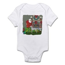 Santa's Helper Weimaraner Infant Bodysuit