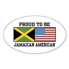 Proud To Be Jamaican American Oval Decal
