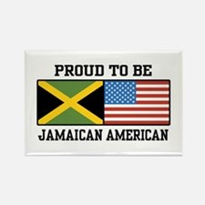 Proud To Be Jamaican American Rectangle Magnet