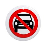 Anti-car Pro-walking Keepsake (Round)