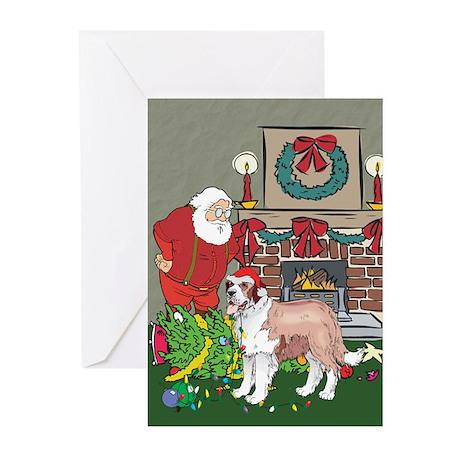 Santa's Helper St Bernard Greeting Cards (Pk of 20