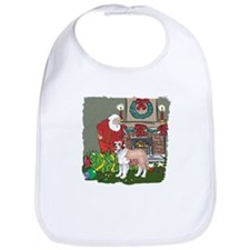 Santa's Helper St Bernard Bib