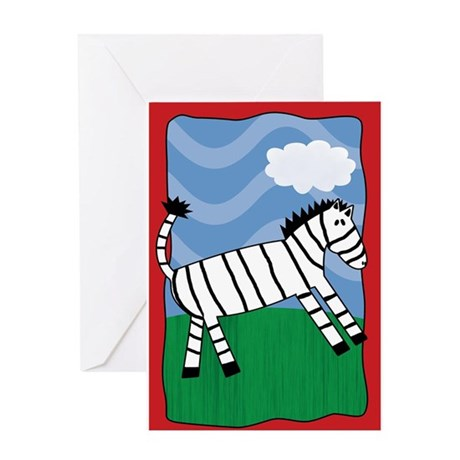 Quirky Zebra Greeting Card