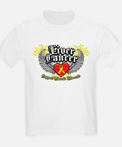 Liver Cancer Wings T-Shirt