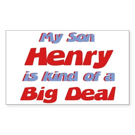 My Son Henry - Big Deal Rectangle Sticker