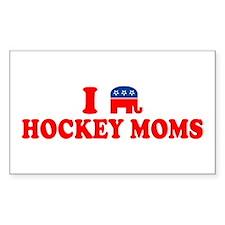 I Heart (Republican Elephant) Hockey Moms Decal