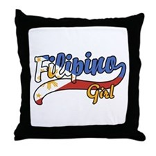 Filipino Girl Throw Pillow