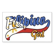 Filipino Girl Rectangle Decal