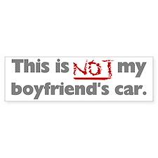 Not My Boyfriend's Car Bumper Bumper Sticker