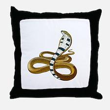 King Cobra 2 Throw Pillow