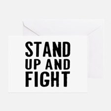 Stand Fight Greeting Card